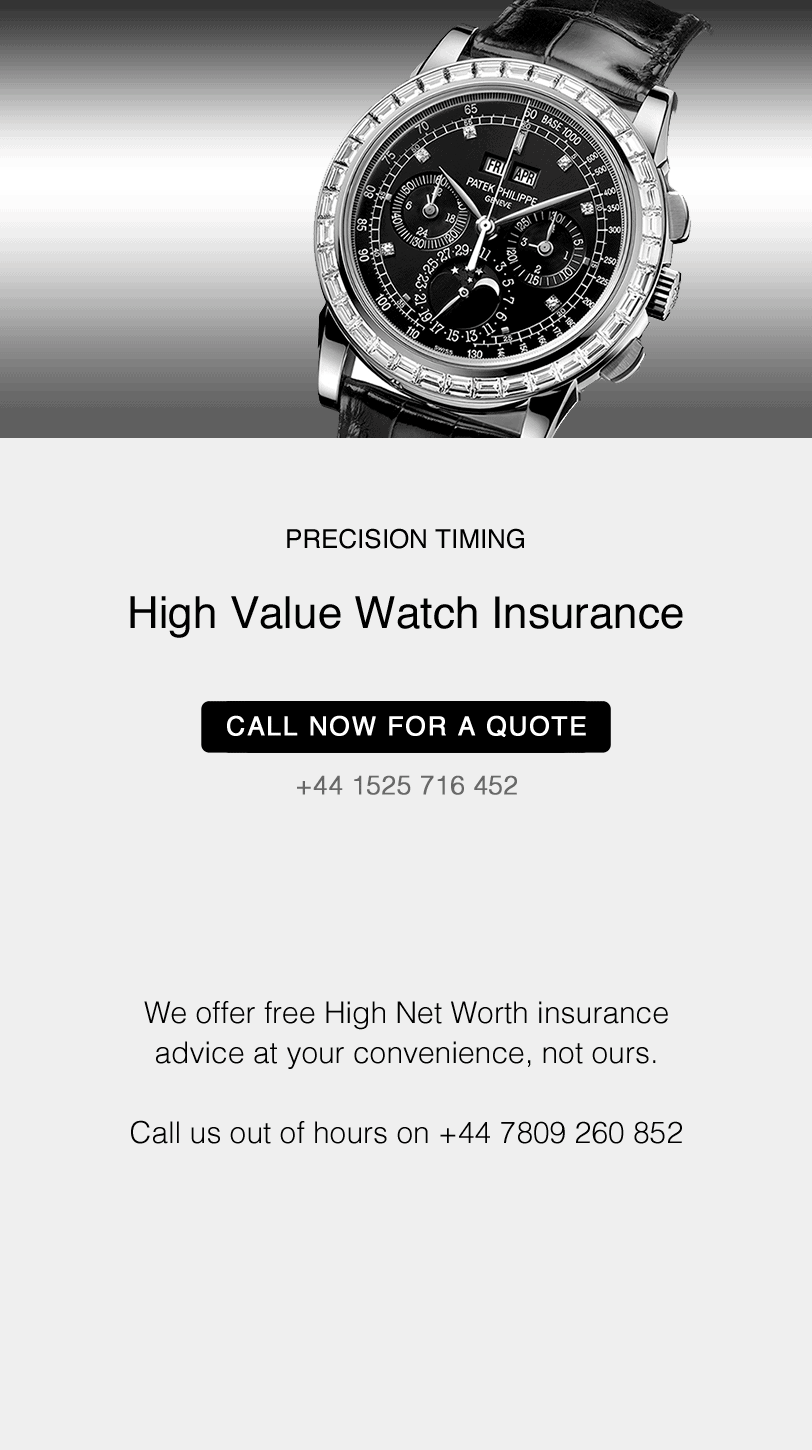 High value jewellery and watch insurance